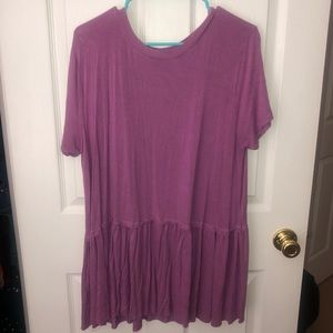 Purple SOFT shirt size 2X with ruffled bottom